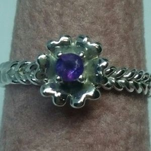 BRAND NEW AMETHYST FLORAL RING SIZE 5.5